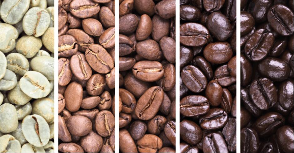 neopražená vs. pražená káva