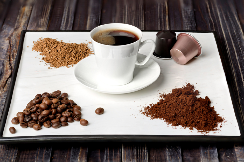 bezkofeínová káva